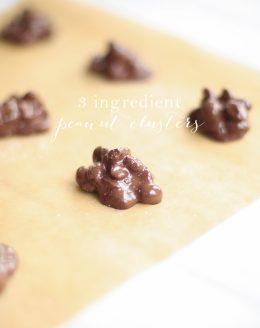 3 ingredient chocolate peanut clusters recipe