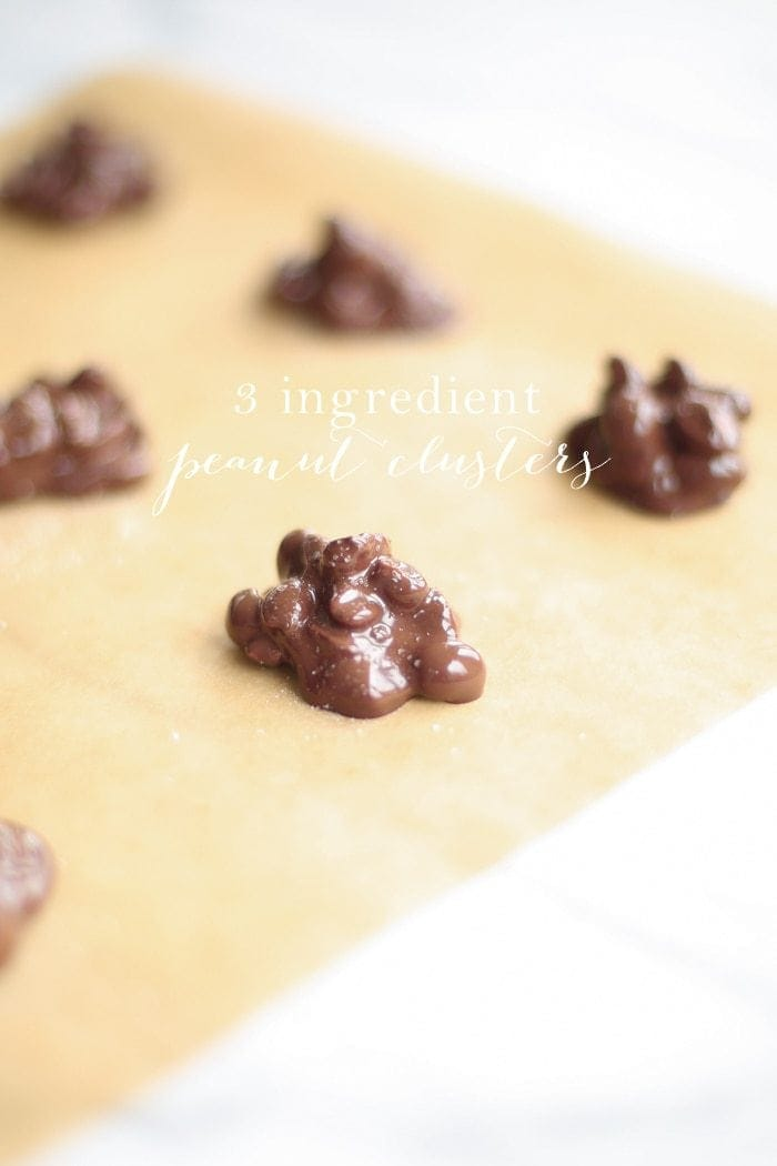 3 ingredient chocolate peanut clusters recipe