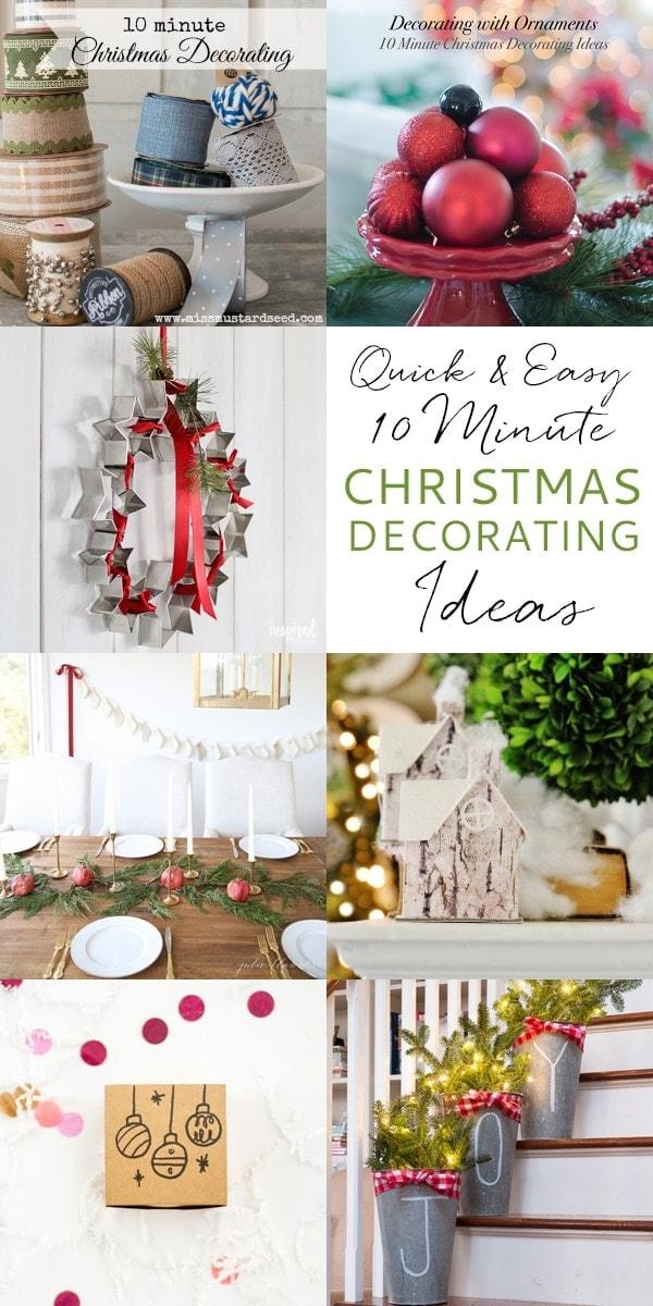 Last minute Christmas decorating ideas