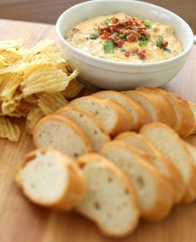 Best recipes of 2015 | Bacon Cheese Dip recipe - incredible make ahead game day appetizer