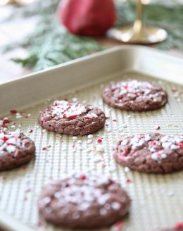 Chewy Chocolate Peppermint Cookies | Christmas Cookie Recipes on julieblanner.com