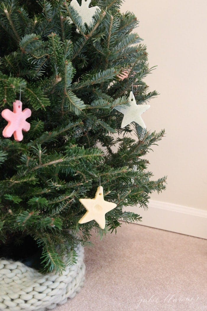 DIY color salt dough ornaments - kids Christmas decorations