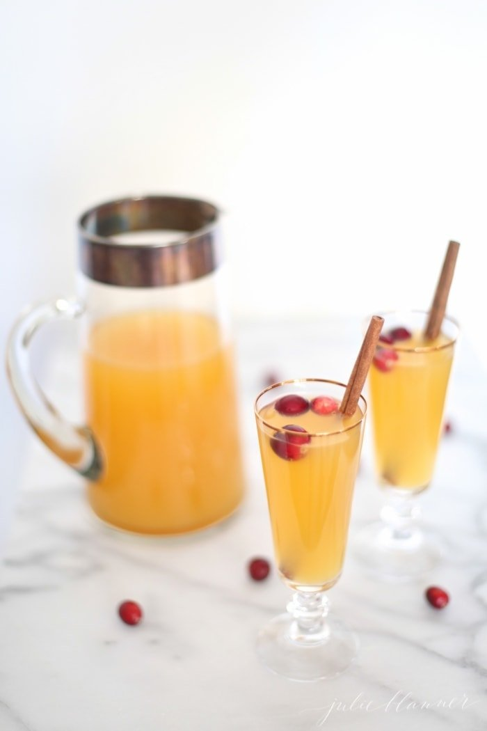 Easy 3 ingredient Christmas cocktail - sparkling sangria