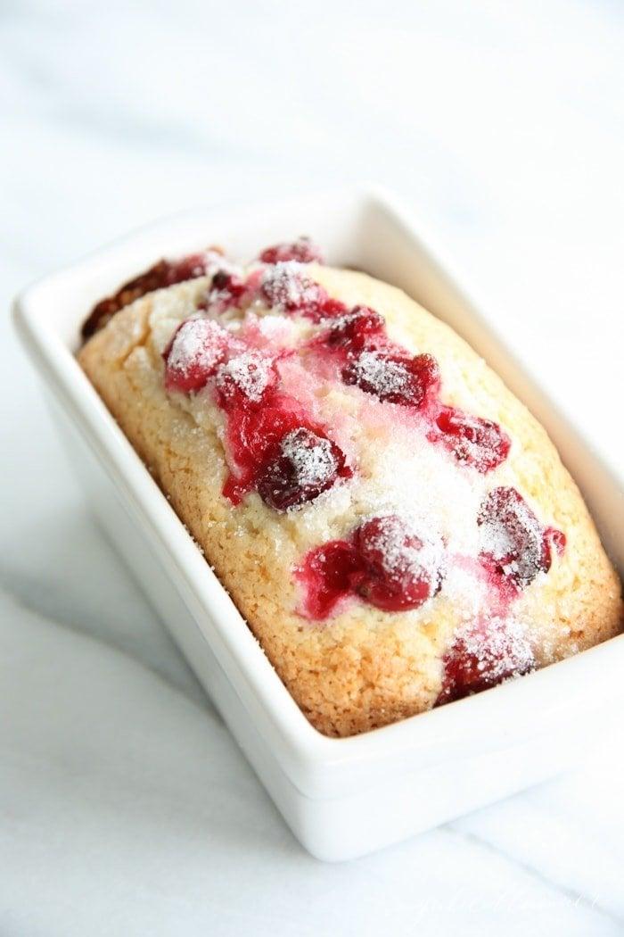 Christmas recipes - homemade cranberry bread