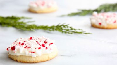 Peppermint Drops - melt in your mouth Christmas cookie recipe