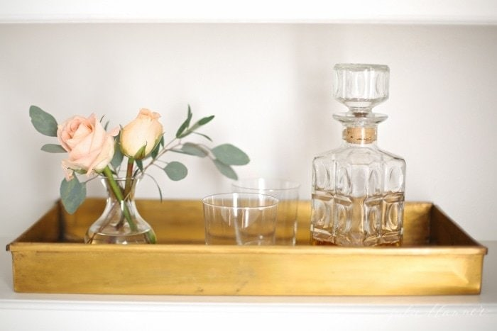 Lifestyle blogger Julie Blanner finds beautiful ways to blend organization into home decor