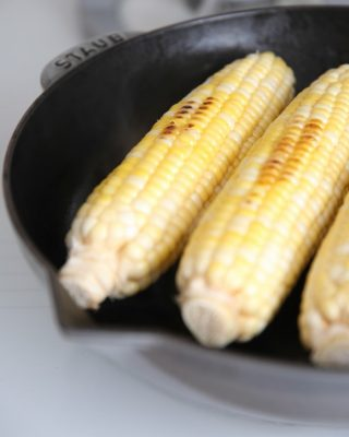Easy and flavorful grilled corn, indoors