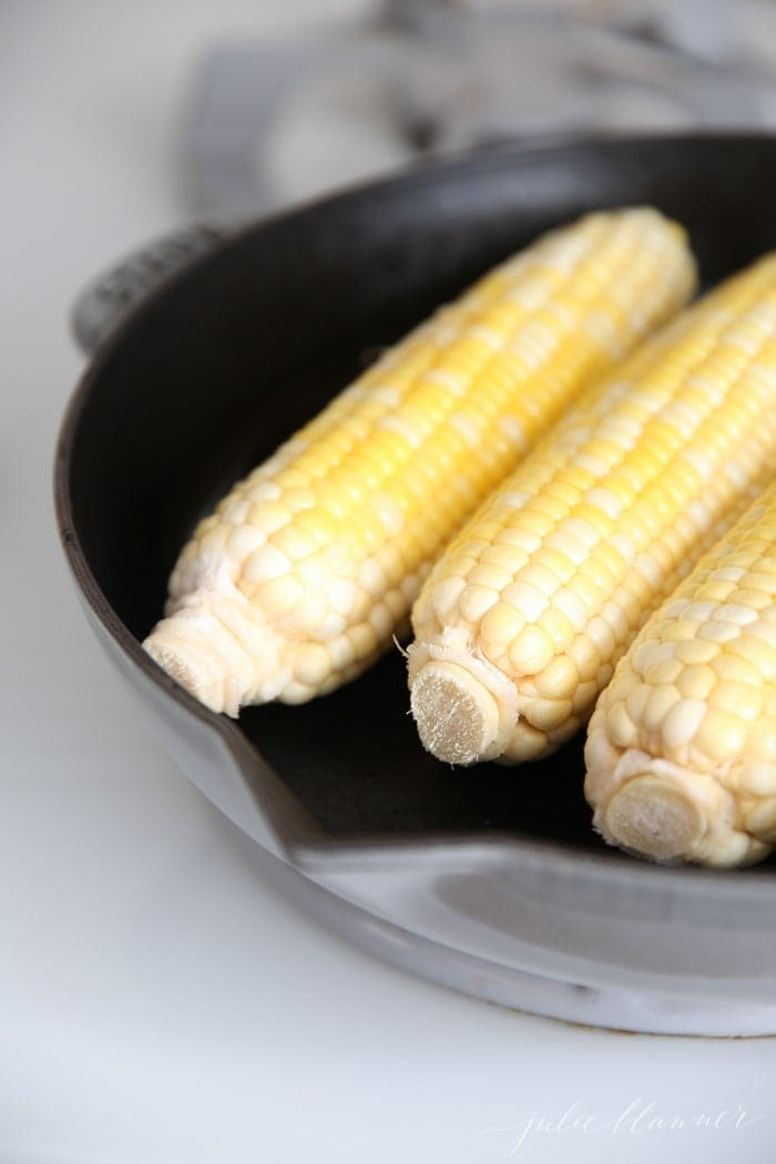 How to make grilled corn indoors