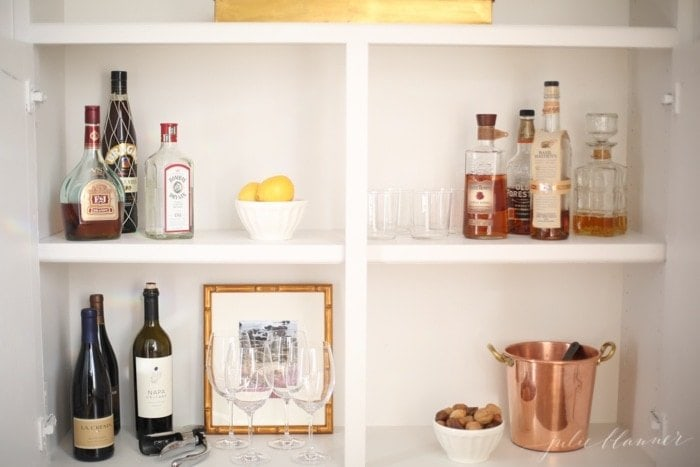 Create a home bar cabinet in just a few minutes