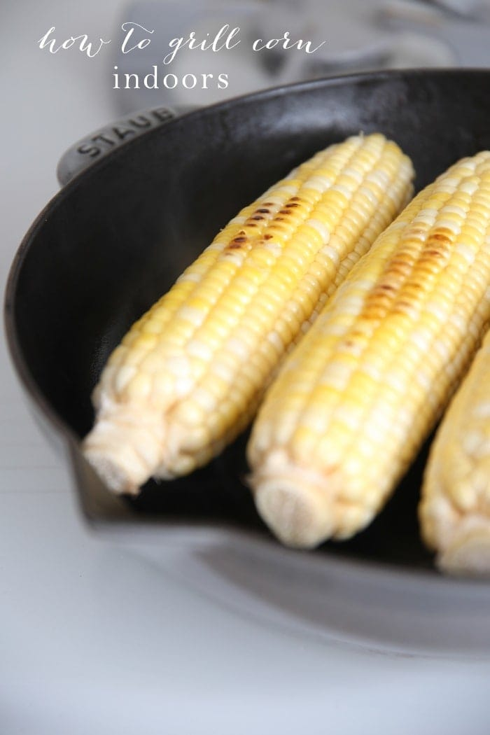 How to get the taste of wood smoked grilled corn indoors in just a few minutes