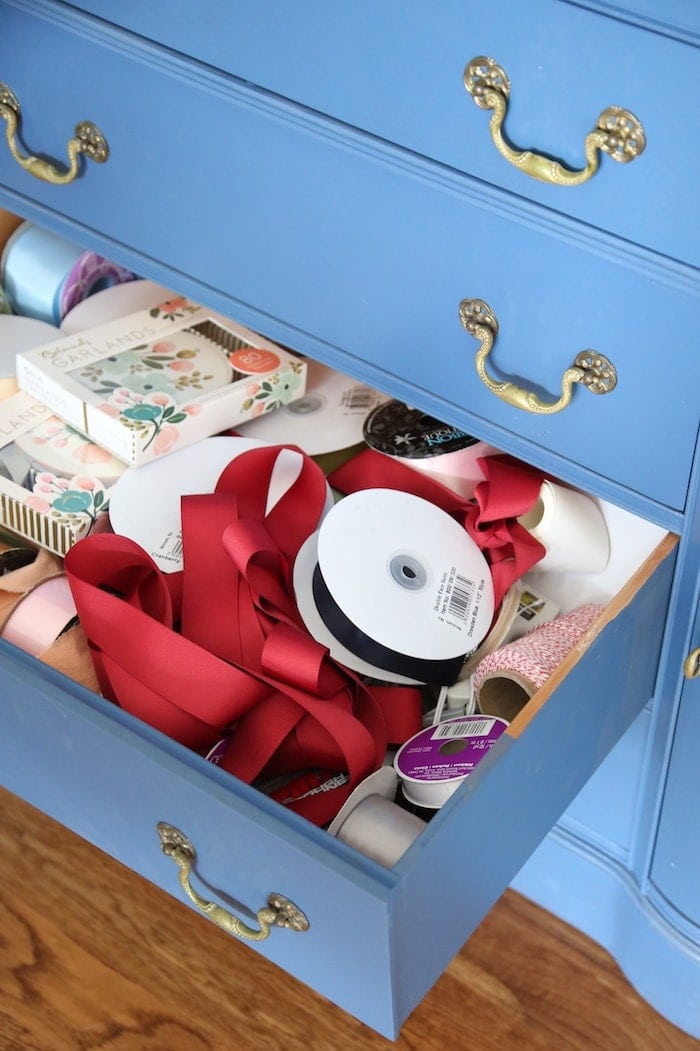 craft drawer before and after - easy ideas to get organized