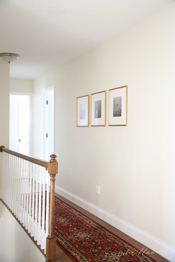 how to frame and hang family photos
