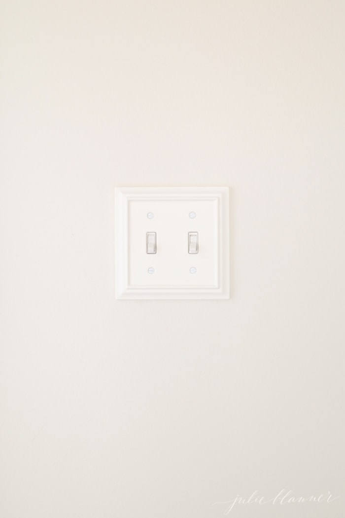 light switch plate cover - easy ways to update a hall