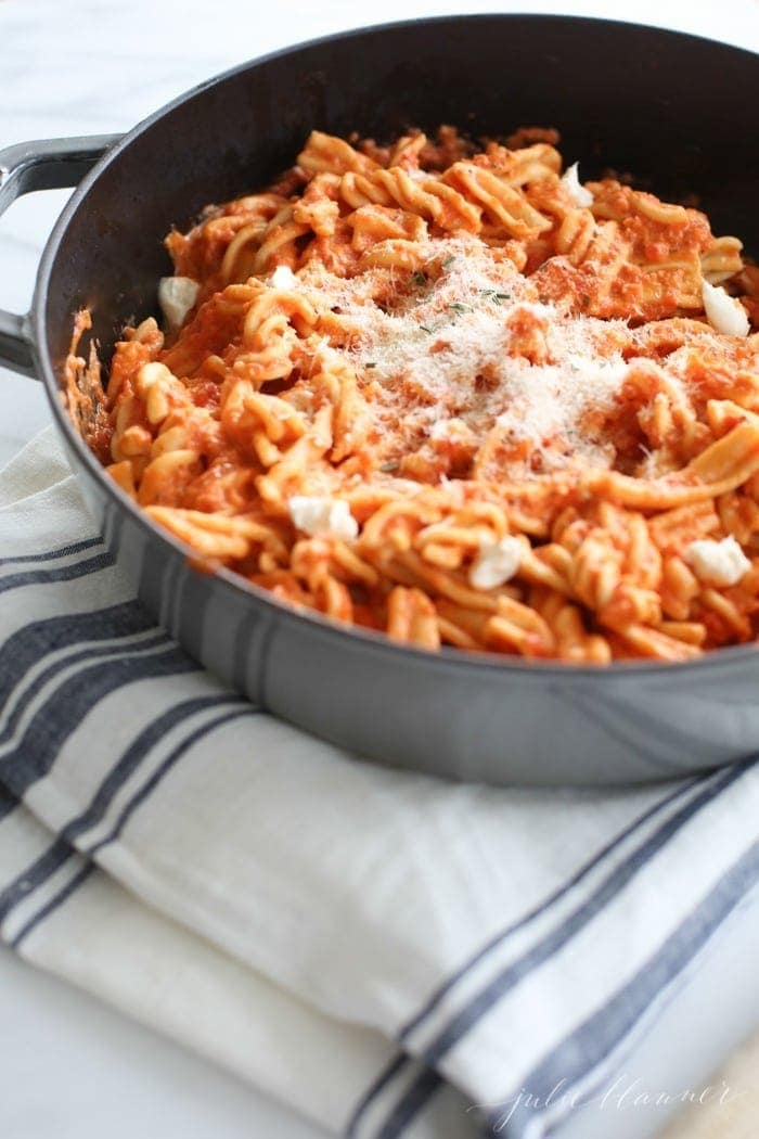 Ina Garten's Penne Alla Vecchia Bettola recipe, simplified