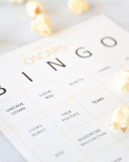 Free printable Oscars bingo cards