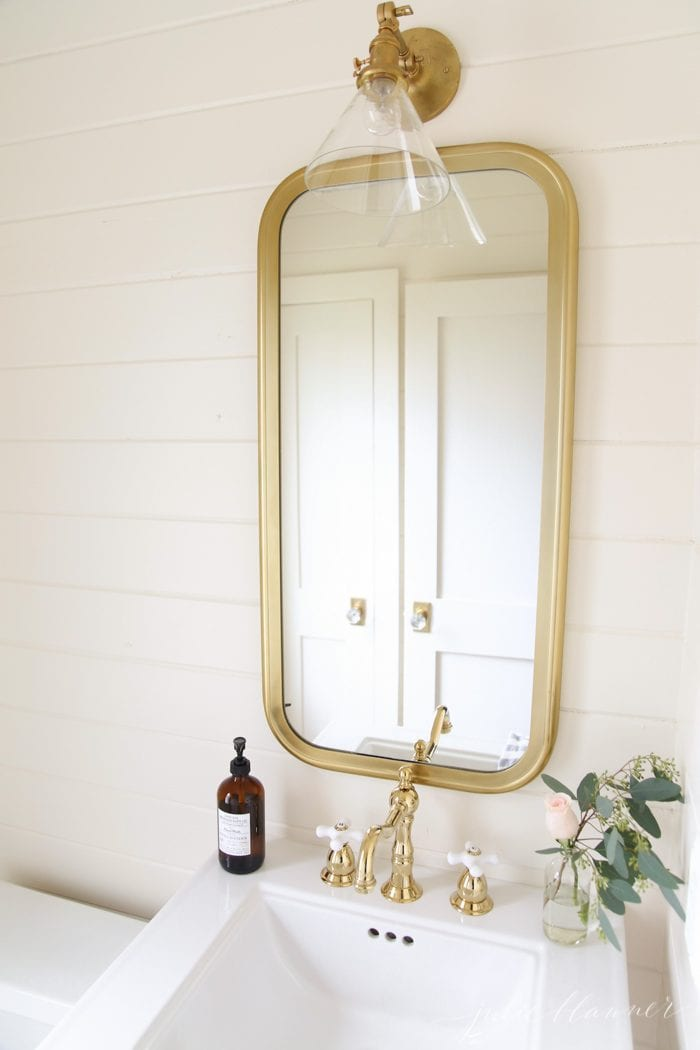 See how function and home design come together in this beautiful powder room