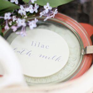 Lilac Bath Milk recipe, easy, fragrant and beautiful gift idea