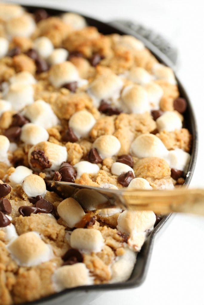 S'mores Peanut Butter Pie is always a crowd pleasing dessert
