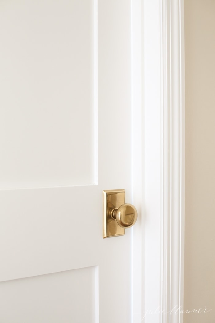 Add charm to your home by replacing hollow core doors with paneled doors