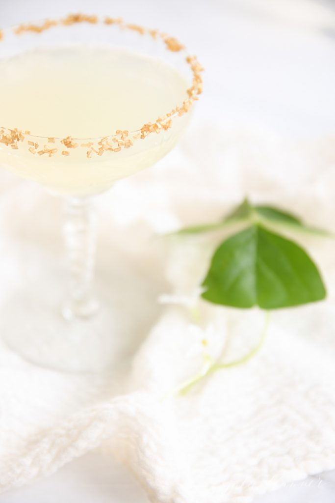 The best spring or summer drink, perfect for a shower or brunch | refreshing sparkling lemonade
