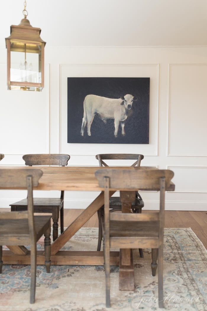 breakfast nook farmhouse table made from reclaimed wood