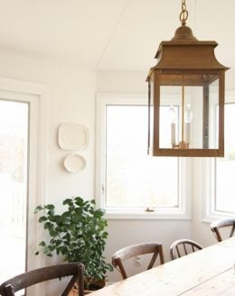 beautiful breakfast room filled with light