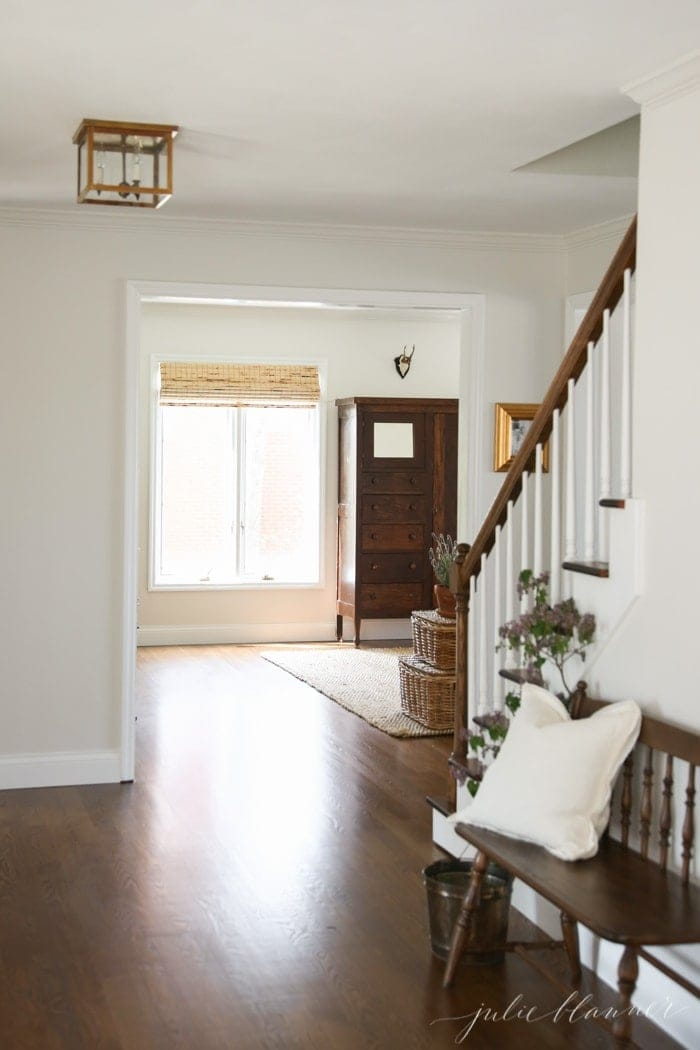 foyer makeover - the before and after of an entryway