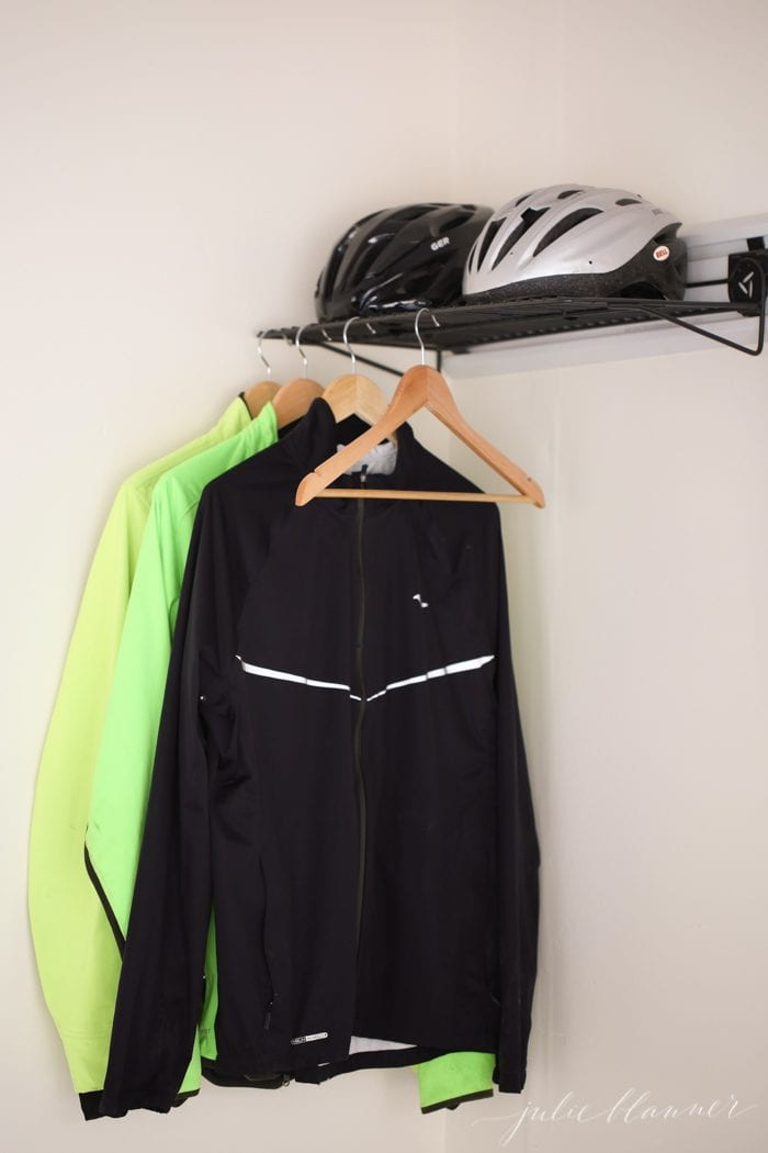 Organize your running gear with an outdoor closet | garage storage and organization