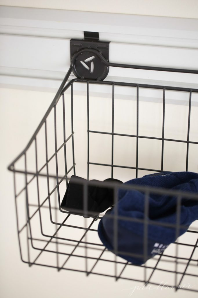 Organize your cycling, running and workout gear with an outdoor mudroom   easy DIY running closet