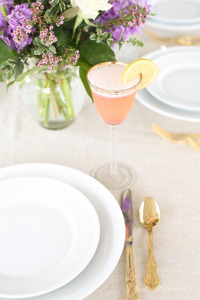 Mimosa de limão e morango