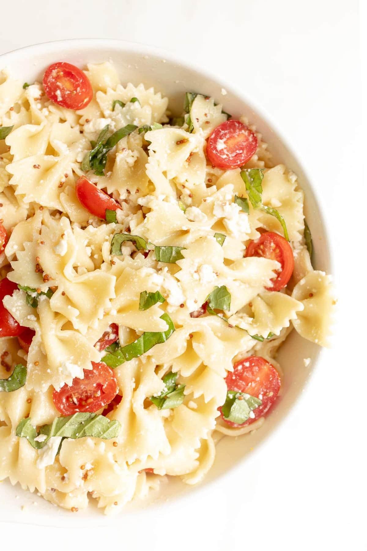 pretty bowtie pasta salad
