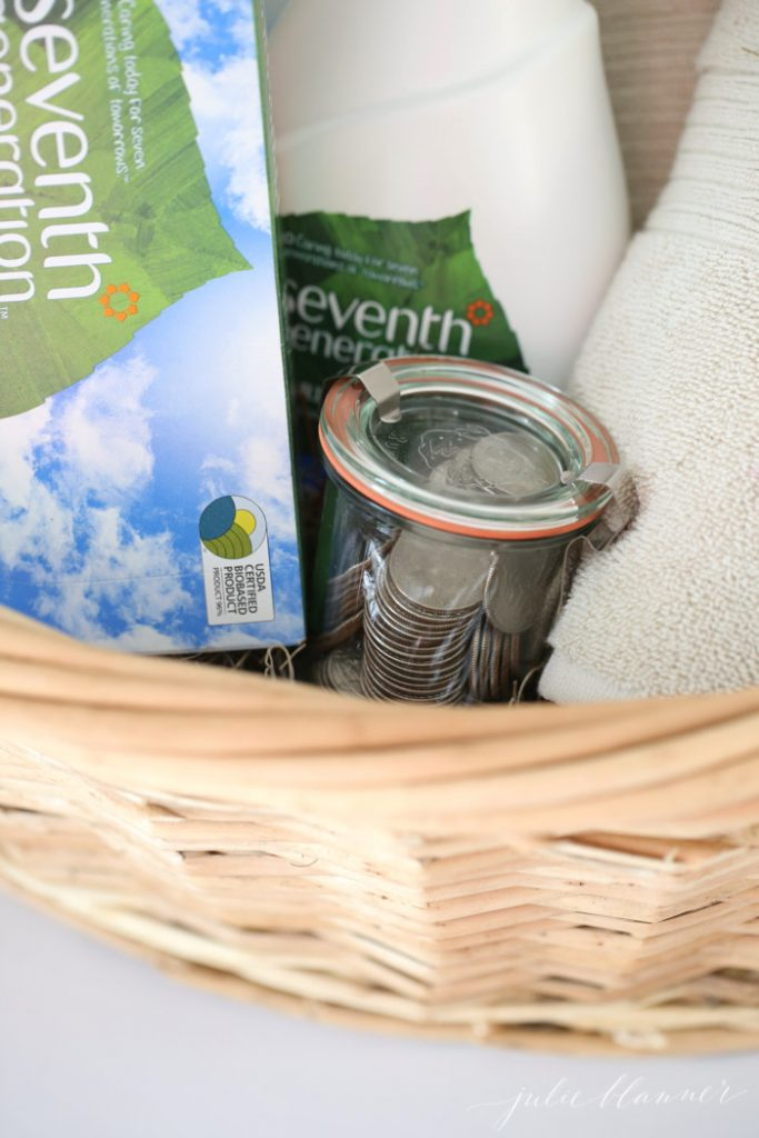 thoughtful high school graduation gift | laundry basket gift for grad going away to college