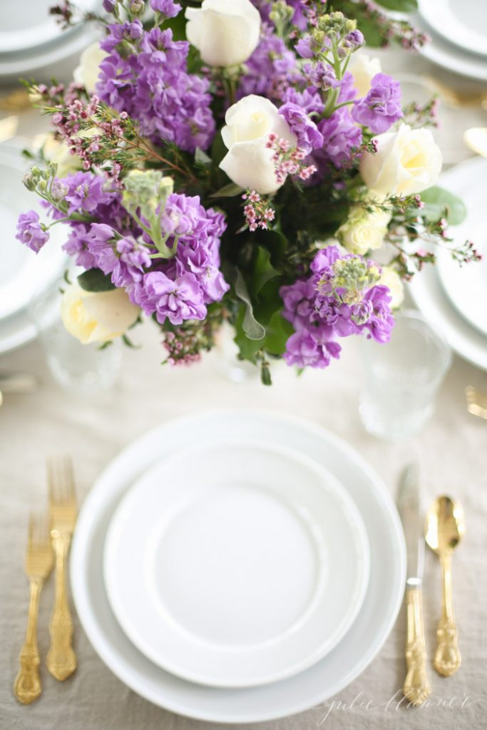 effortlessly beautiful table setting for Mother's Day