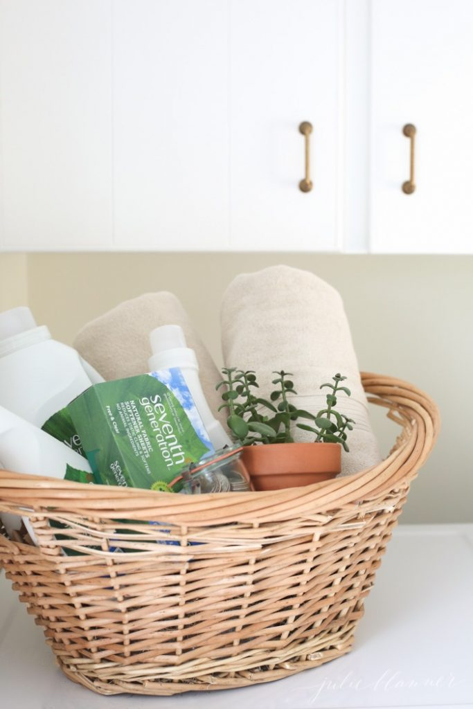 laundry gift basket | perfect idea for a high school grad going away to college or a beautiful housewarming gift idea