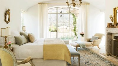 Steve and Brooke Gianetti master bedroom in Veranda | Patina Farm