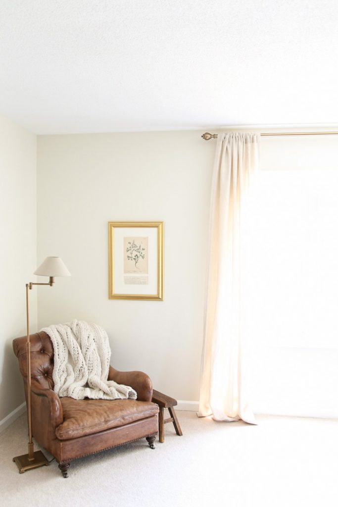 a soft, neutral and romantic master bedroom