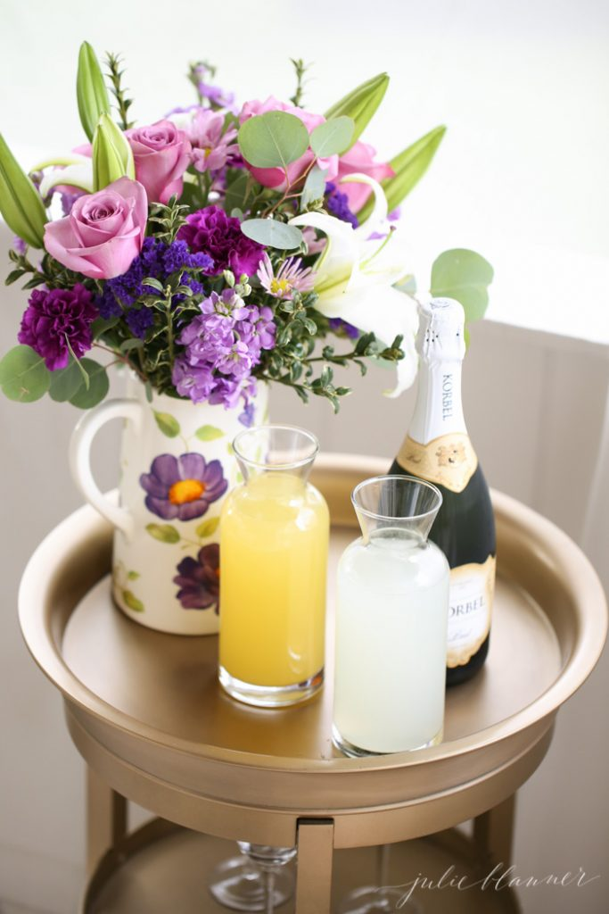 how to set up a mimosa bar with the best mimosa recipe
