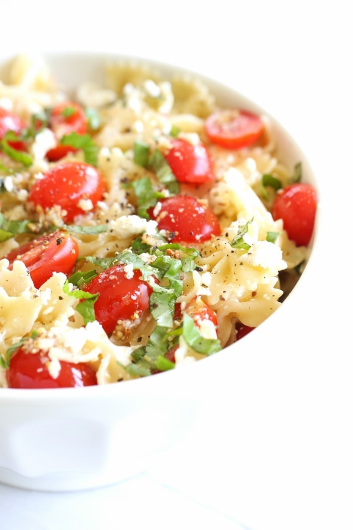 A light, refreshing and easy pasta salad, perfect for summer picnics and outings. This lemon basil pasta salad recipe is always a crowd pleaser!