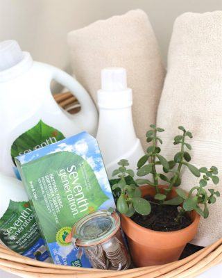 laundry basket gift | practical graduation gift or housewarming gift idea
