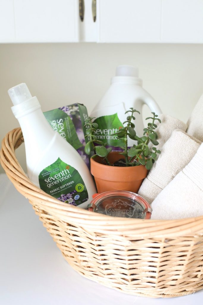 A practical high school graduation gift or housewarming gift for a first time homeowner | laundry gift basket