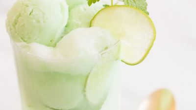 Combine your drink and dessert with the ultimate summer cocktail - a mojito float!