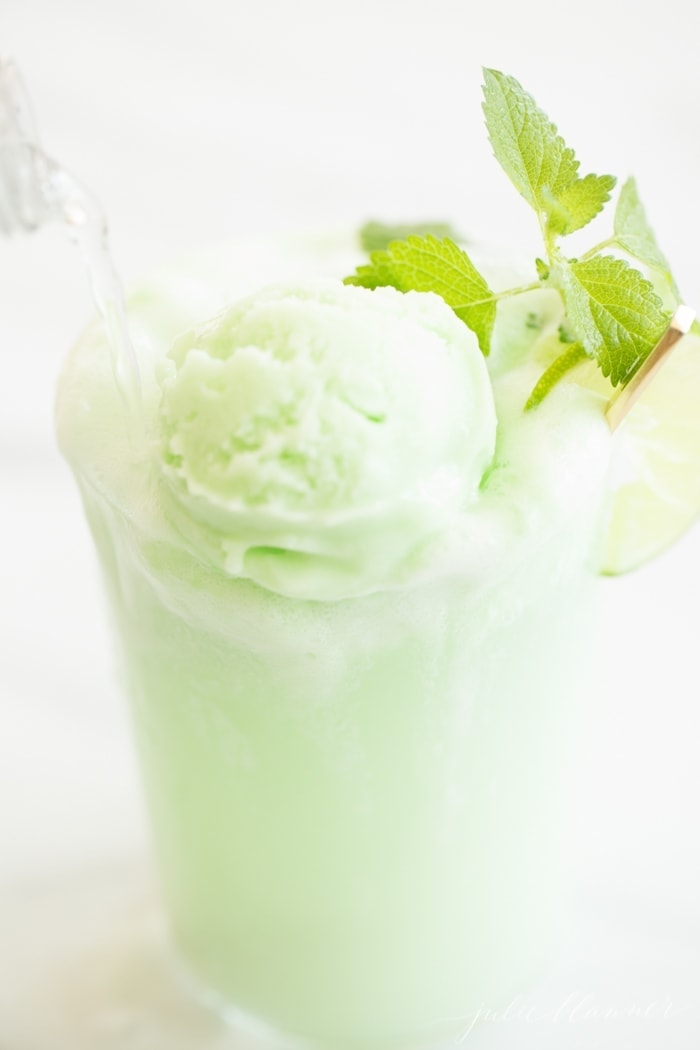 Combine your drink and dessert with the ultimate summer drink - a mojito float!