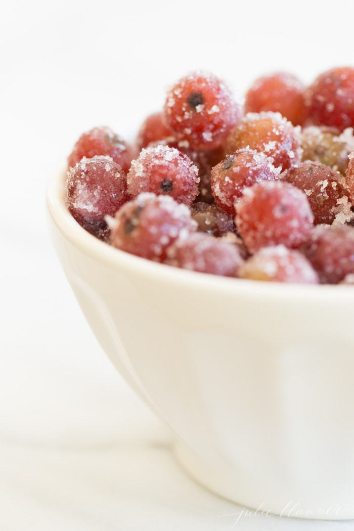 frozen grapes marinated in wine - the perfect summer snack