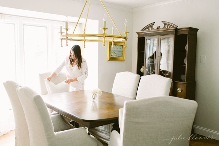 interior design blogger Julie Blanner shares her home in progress