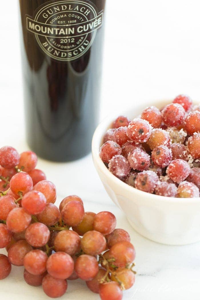 wine marinated grapes - the perfect summer dessert