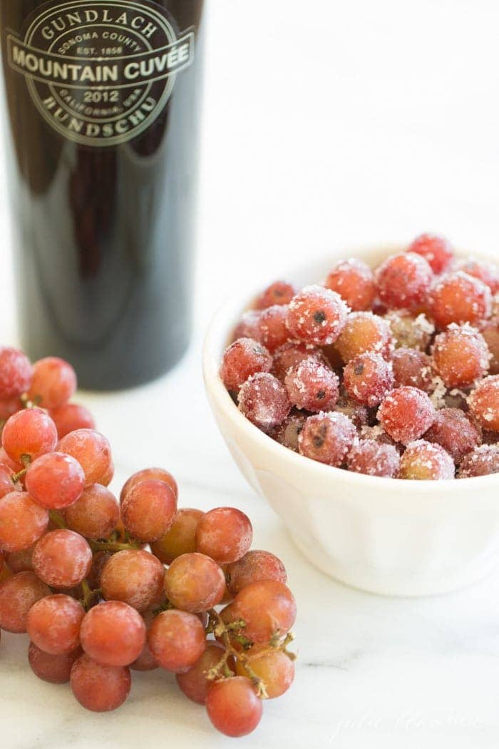 a light and refreshing summer dessert - wine marinated grapes