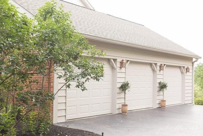 Beautiful outdoor lighting, perfect between garages or to frame a front door