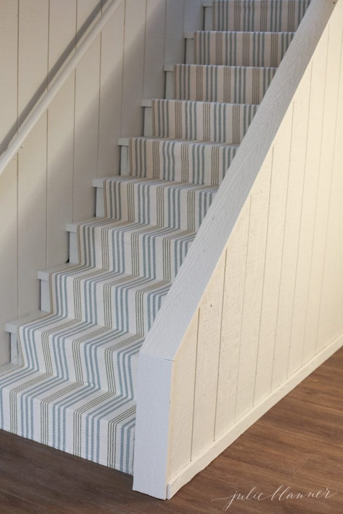 save money redoing stairs with a stair runner
