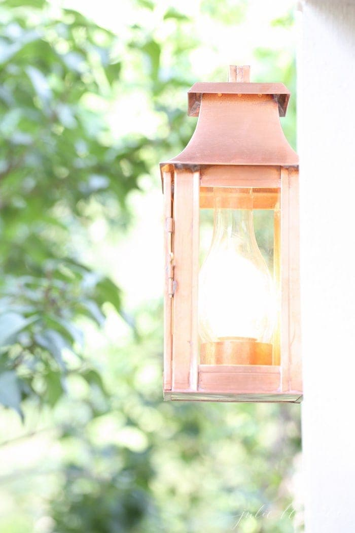 Beautiful outdoor lighting, perfect between garages or to frame a front door