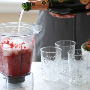 Easy 2 ingredient Champagne Slushies - the perfect summer sip